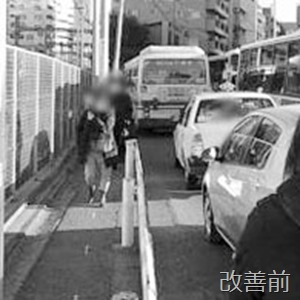 以前はバスが止まると渋滞が発生