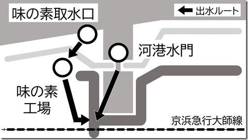 河港水門・味の素 出水マップ